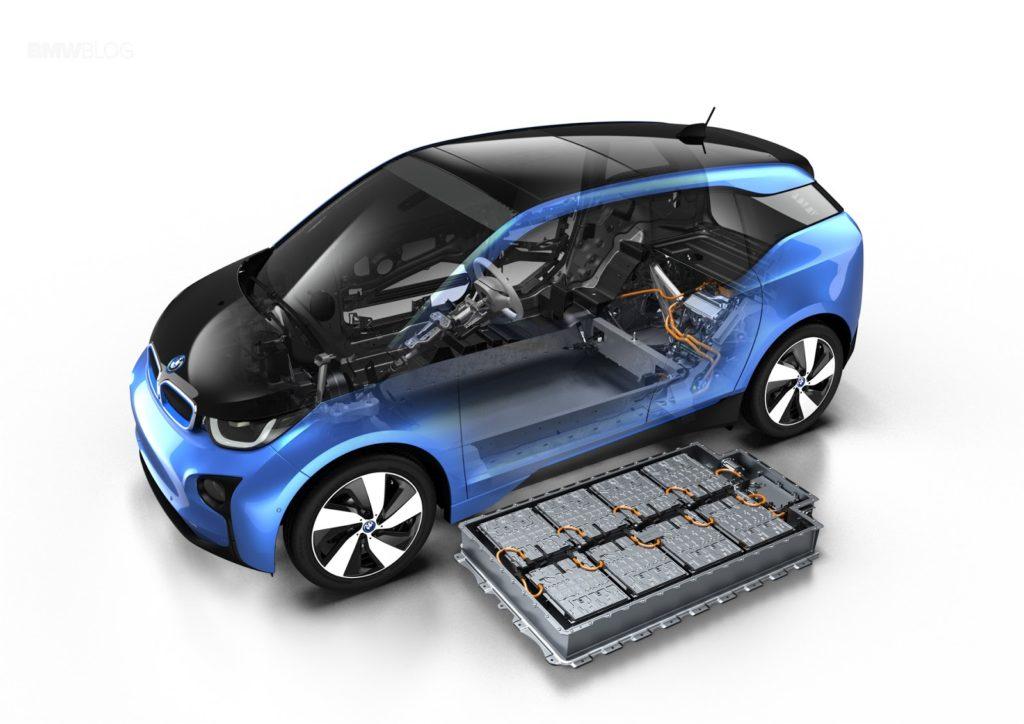 BMW i3 mit ausgebautem Batteriesatz