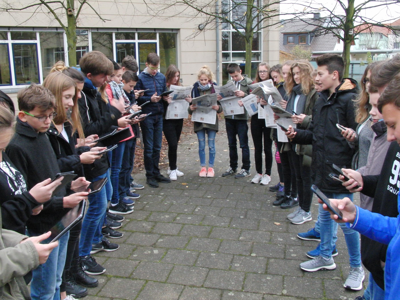 Klasse 8c/Gymnasium Landsberg Foto von Herrn Klück