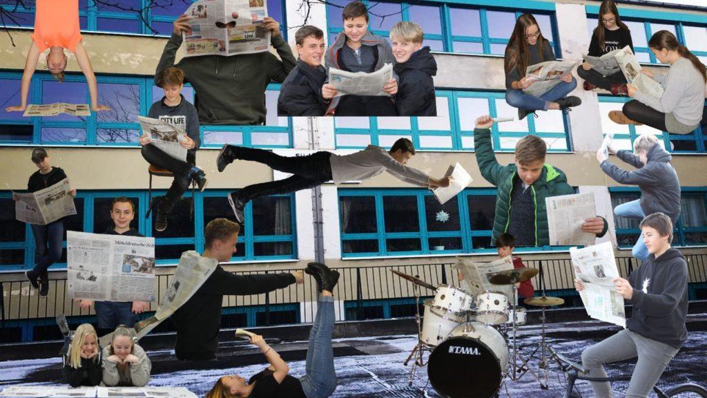 Wir sind die Klasse 8b vom Südstadt Gymnasium in Halle. Wir sind wie die MZ. Vielseitig! Fotos:Matteo Luleich